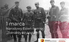 plakat obrazujący żołnierzy wyklętych